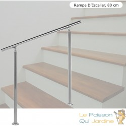 Rampe D'Escalier, Main Courante, Sur Pied, 80 cm, Acier Inoxydable