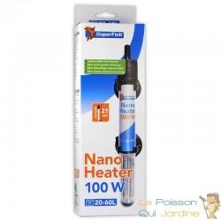 Chauffage thermostat 100W pour nanos aquariums : Aquarium d'eau de mer ou d'eau douce