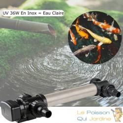 U.V INOX ( Ultra Violet ) 36W Pour Bassin De Jardin De Plus De 15 m³