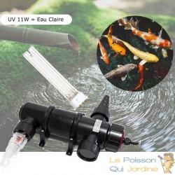 U.V ( Ultra Violet ) 11W Pour Aquarium Et Bassins + 1 Ampoule Supplémentaire