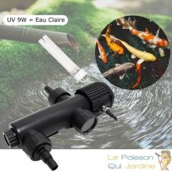 U.V ( Ultra Violet ) 9W Pour Aquarium, Bassins + 1 Ampoule Supplémentaire