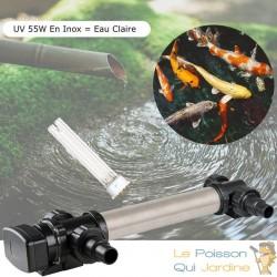 U.V INOX 55W Pour Bassin De Jardin De Plus De 20 m³ + 1 Ampoule Supplémentaire