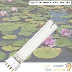 Ampoule UVC 18 Watts 4 pins pour bassin