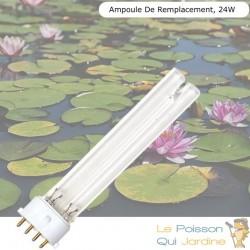 Ampoule De Remplacement, UVC 24W, Pour Aquarium, Bassin De Jardin