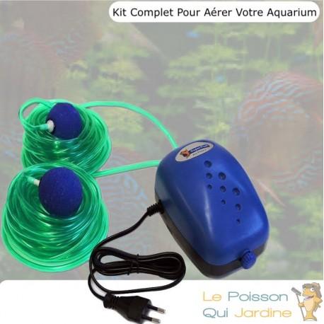 Pack Air 250, Pour Aérer Votre Aquarium, Jusqu'à 250 L, Kit Complet