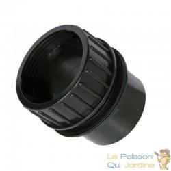 Passe paroi à visser PVC 63 mm pour bassin de jardin et étang