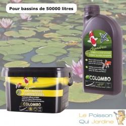 Pack contre l'eau verte des bassins de jardin. Pour 50 m3