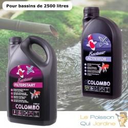 Pack Bactéries + Activateur pour bassins de jardin de 2500 litres