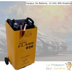 Chargeur de batterie rapide 12-24V 50-800 Ampères