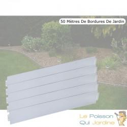 50 m de bordures de jardin en métal. A clipser. Bordures pas chères
