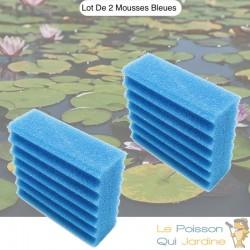Lot De 2 Mousses Bleues, De Filtration, De Remplacement, Pour Bassins