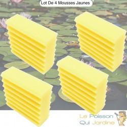 Lot De 2 Mousses De Filtration, De Remplacement Jaune Pour Bassins