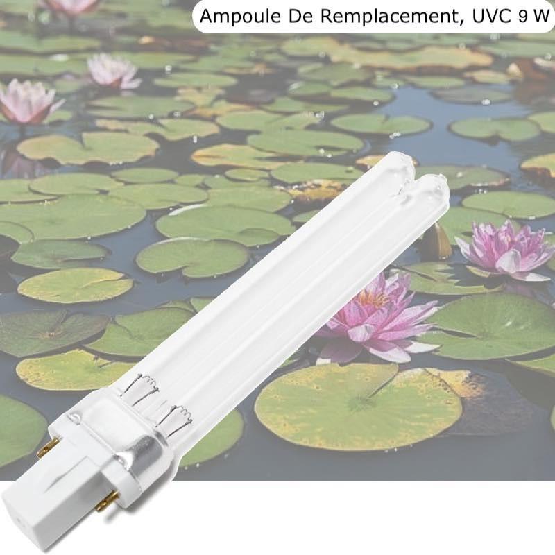 Ampoule De Remplacement, UVC 9W, Pour Aquarium, Bassin De Jardin
