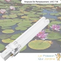 Ampoule UVC 7W pour ultra violet de bassin et aquarium