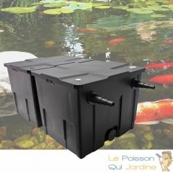 Filtre double chambres bassins de jardin et étangs jusqu'à 25000 litres