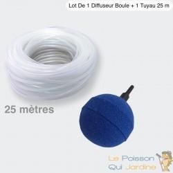 Lot De 1 Diffuseur D'Air De 5 cm, Sphérique, Boule + 1 Tuyau De 25 M