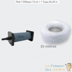 Pack 1 Diffuseur D'Air De 13 cm De Longueur + 1 Tuyau De 25 m, Pour Bassins