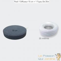 Pack 1 Diffuseur D'Air, Forme De Disque 15 cm + 1 Tuyau De 25 m