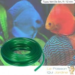 5 Mètres De Tuyau Vert Pour Pompe À Air D'Aquarium, Bassin De Jardin
