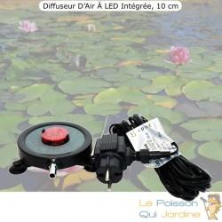 Diffuseur D'Air 2 En 1, Disque À LED Intégrée, 10 cm, Pour Bassins De Jardin