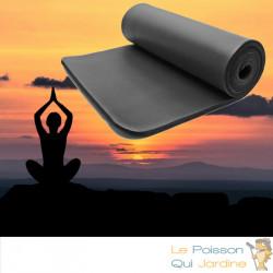 Tapis De Sport - Sol Noir 185 X 80. Yoga, Pilates, Body Balance, Stretching, Abdominaux