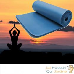 Tapis De Sport - Sol Bleu 185 X 80. Yoga, Pilates, Body Balance, Stretching, Abdominaux