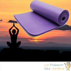 Tapis De Sport - Sol Violet 185 X 80. Yoga, Pilates, Body Balance, Stretching, Abdominaux