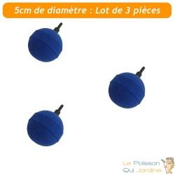 Pack PROMO 3 X Diffuseurs d'air ( boule ) sphériques pour aérer les bassins de jardin : 5 cm