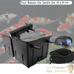 Filtre complet avec UV 24W pour bassin de jardin : 10 à 15 m³ avec poissons