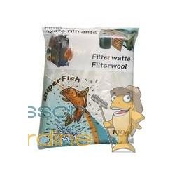 Ouate - Perlon blanc 100gr pour filtre d'aquarium