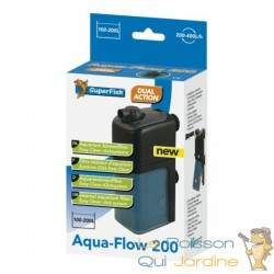 Filtre interne 500 l/h pour aquarium Superfish Aqua Flow 200