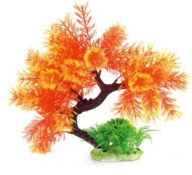 Arbre plante plastique pour aquarims : orange : 25 cm SUPERBE