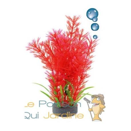 plante plastique rouge avec bulleur pour aquarium 20cm le poisson qui jardine. Black Bedroom Furniture Sets. Home Design Ideas